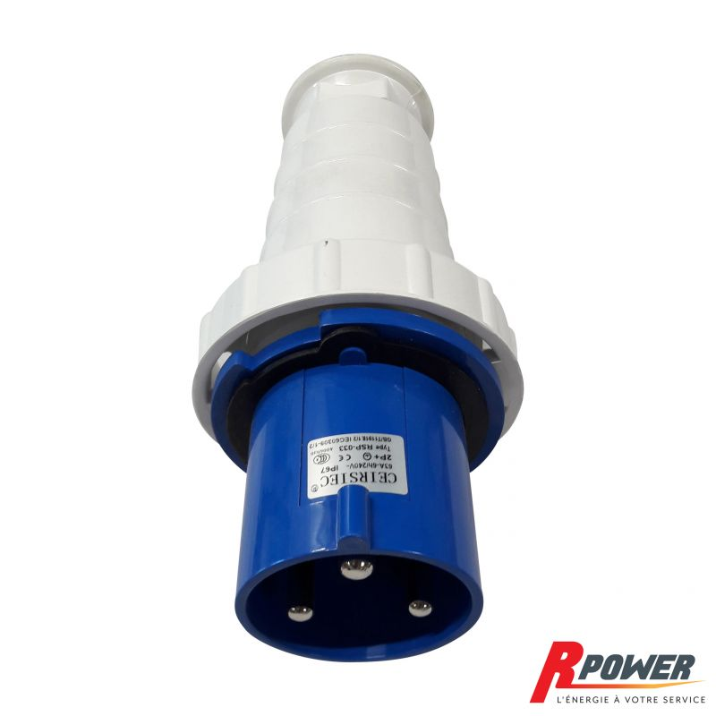 Prise mâle 63A IP67 groupe électrogène ITC Power et Hyundai