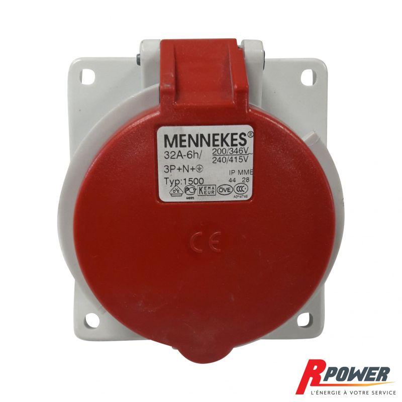 Socle tri 32a 3P+N+T MENNEKES type 1500 ITC Power