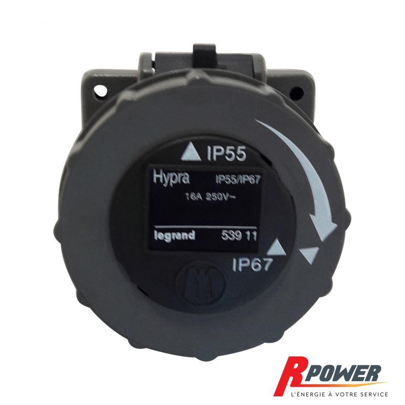 Socle femelle monophasé 16A IP55 / IP67 HYPRA LEGRAND ITC Power